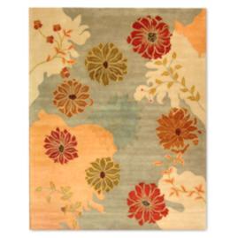 Metro Floral Wool Area Rug