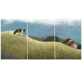 Set of Three Rolling Pastures Panel Wall Art