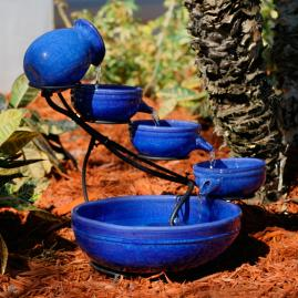 Ceramic Cascading Solar Fountain