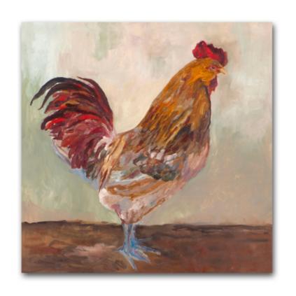 rooster wall art - Grandin Road Catalog