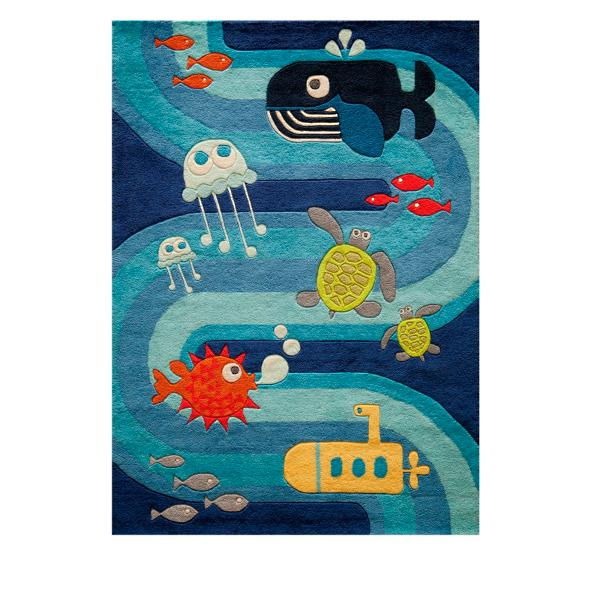 under the sea area rug grandin road. Black Bedroom Furniture Sets. Home Design Ideas