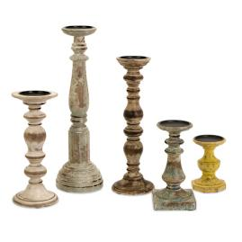 Set of Five Kanan Candleholders