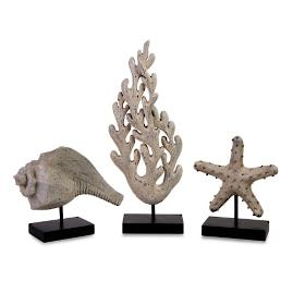 Set of Three Seaside Statues