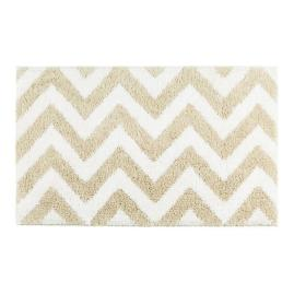 Linen Chevron Bath Rug |