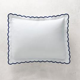 Isabel Embroidered Scalloped Pillow Sham