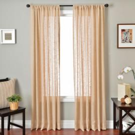 Belique Solid Sheer Drapery Panel |