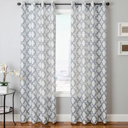 Encore Burnout Sheer Panel With Grommets Grandin Road