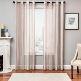 Giada Striped Sheer Drapery Panel