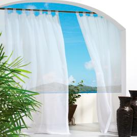 Sheer Outdoor Drapery Panels