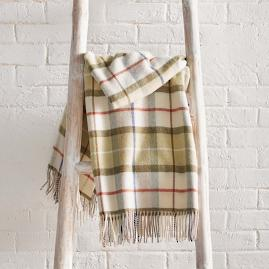 Lambswool Plaid Throw |