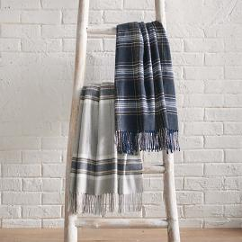 Italian Plaid Throw
