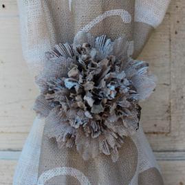 Fabric Fleur Tieback
