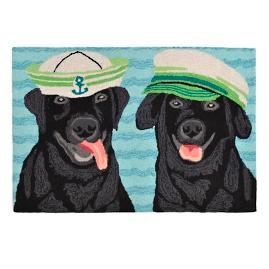 Black Labs Salty Dogs Door Mat