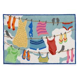 Clothes Line Door Mat