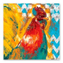 Funky Rooster Wall Art - II