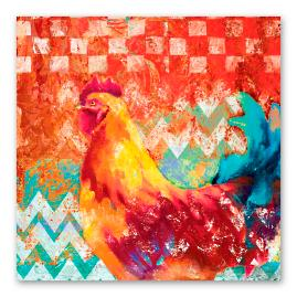 Funky Rooster Wall Art - I