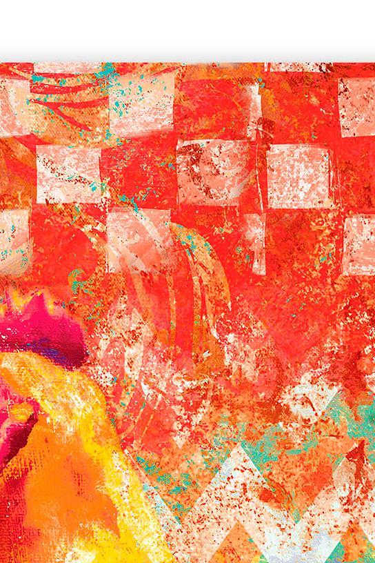 Funky Rooster Wall Art I Grandin Road
