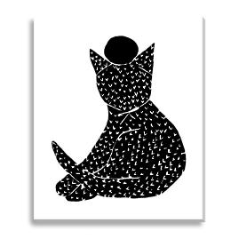 Black Kitty Outdoor Wall Art