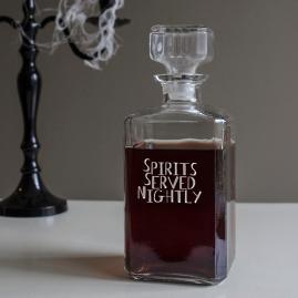 Spirits Served Nighly Decanter