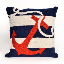 Anchor's Away Indoor/Outdoor Throw Pillow |