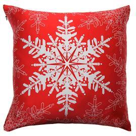 Perfect Snowflake Throw Pillow