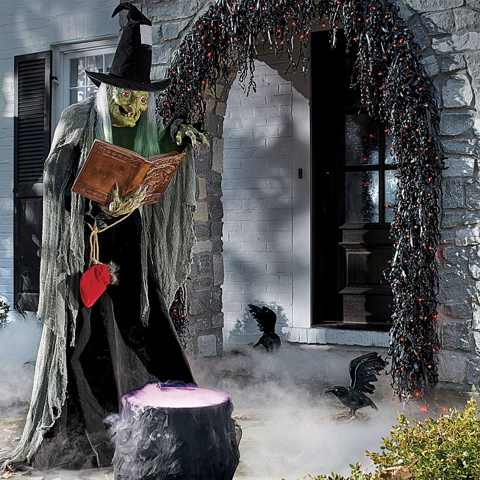 outdoor decorating guide - Halloween Decorations Witches
