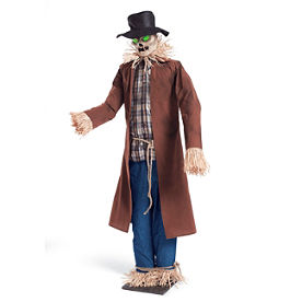 Outdoor halloween decorations halloween yard props for Animated scarecrow decoration
