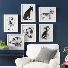 study of dog artwork - Grandin Road Catalog