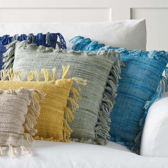 Solid Fringed Pillows Grandin Road