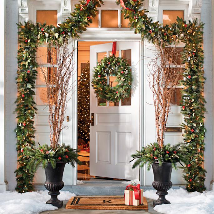 Pre lit woodland christmas greenery collection grandin