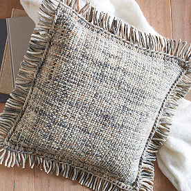 Basketweave Fringed Pillow