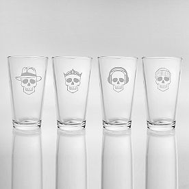 Numbskull Pint Glasses, Set of Four
