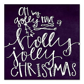 Holly Jolly Christmas Canvas Wall Art
