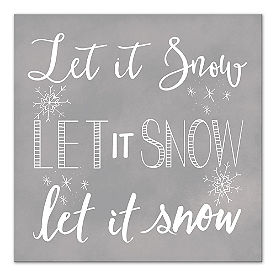 Let it Snow Canvas Wall Art