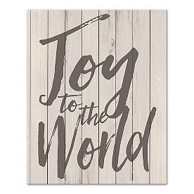 Joy to the World Canvas Wall Art