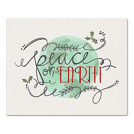 Peace on Earth Canvas Wall Art