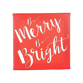 Be Merry Be Bright Canvas Wall Art