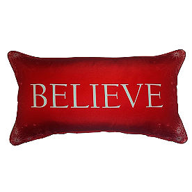 Believe with Snowflakes Lumbar Pillow