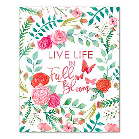 Live Life in Full Bloom Canvas