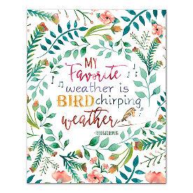 Bird Chirping Weather Canvas