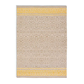 Magnolia Home by Joanna Gaines Emmie Kay Rug in Grey and Maize