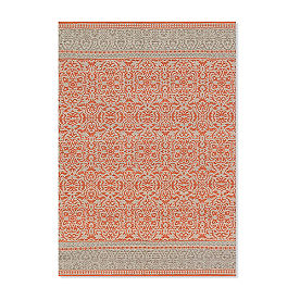 Magnolia Home by Joanna Gaines Emmie Kay Rug in Persimmon and Grey