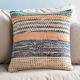 Magnolia Home by Joanna Gaines Orange and Blue Square Pillow
