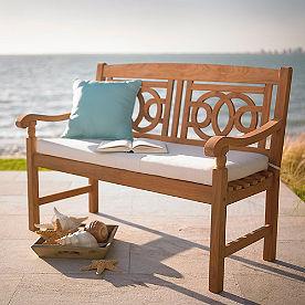 Teak Wood Outdoor Furniture. Teak Amalfi Bench