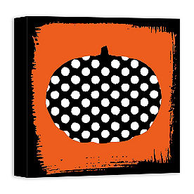 Pumpkin Dots Canvas Art
