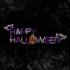 Pre-Lit LED Happy Halloween