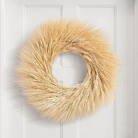Dried Golden Wheat Wreath