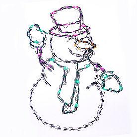 Pre-Lit LED Waving Snowman