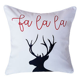 Fa La La Reindeer Pillow