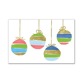 Colorful Christmas Canvas, Ornament